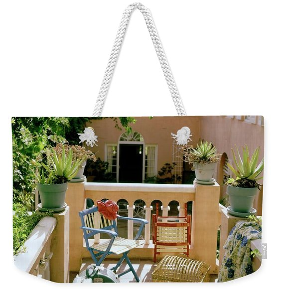 Terrace At A Guest House At Waterloo Weekender Tote Bag
