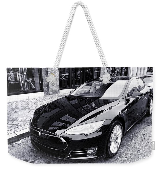 Tesla Model S Weekender Tote Bag