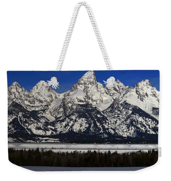 Tetons From Glacier View Overlook Weekender Tote Bag