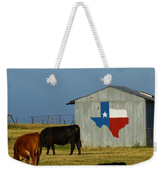 Texas Farm With Texas Logo Weekender Tote Bag