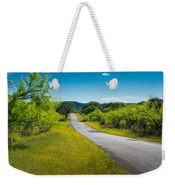 Texas Hill Country Road Weekender Tote Bag