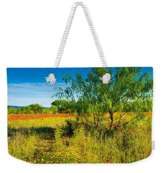 Texas Hill Country Wildflowers Weekender Tote Bag