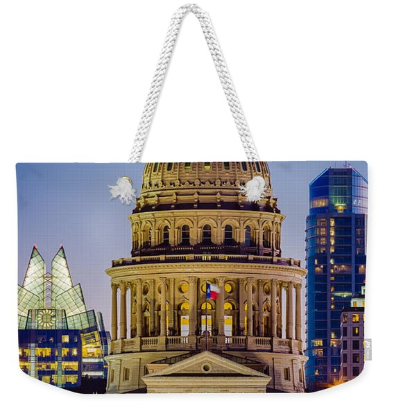 Texas State Capitol By Night Weekender Tote Bag