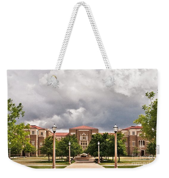 Weekender Tote Bag featuring the photograph School Of Education by Mae Wertz