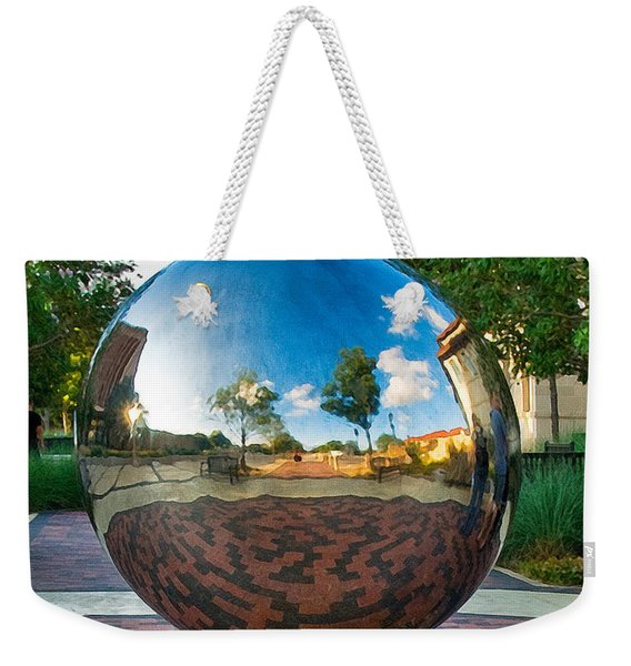 Weekender Tote Bag featuring the photograph Tech World by Mae Wertz