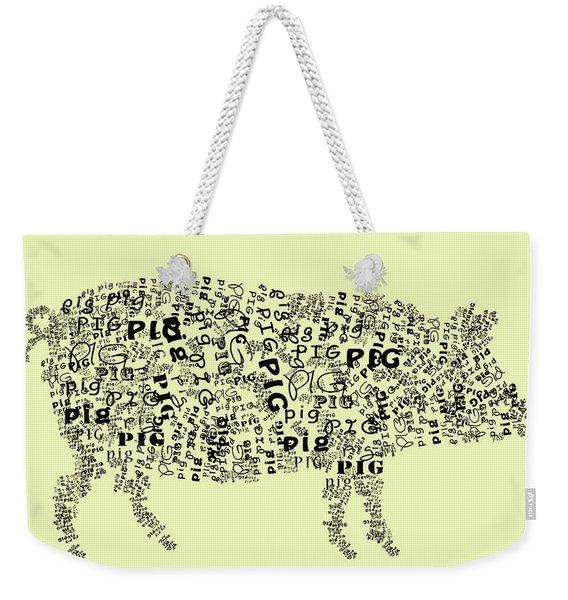 Text Pig Weekender Tote Bag
