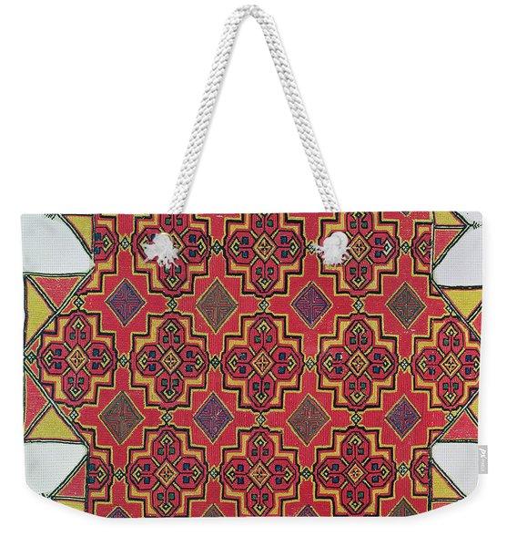 Textile With Geometric Pattern Weekender Tote Bag