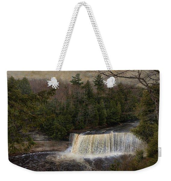 Textured Tahquamenon River Michigan Weekender Tote Bag