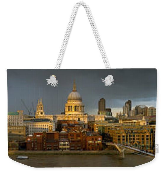 Thames With St Paul's Panorama Weekender Tote Bag