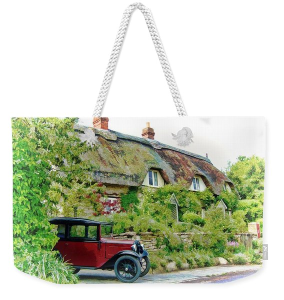 Thatched Cottages At Reybridge Weekender Tote Bag