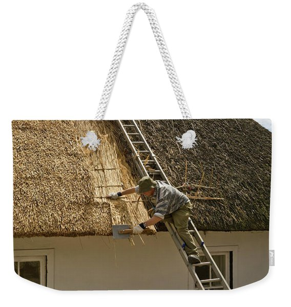 Thatching A Cottage,dunmore East Weekender Tote Bag