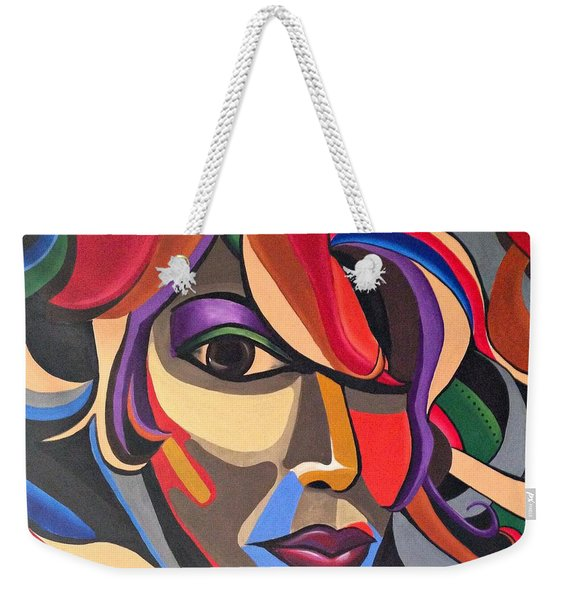Abstract Woman Art, Abstract Face Art Acrylic Painting Weekender Tote Bag