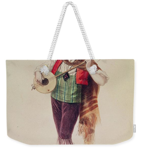 The Actor Dupuis As Piquillo In Offenbachs Operetta La Perichole, Illustration From Costumes Des Weekender Tote Bag