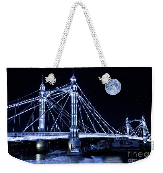 The Albert Bridge And The Moon Weekender Tote Bag