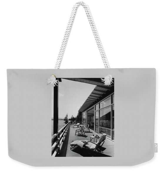 The Alfred Rose Lake Placid Summer Home Weekender Tote Bag