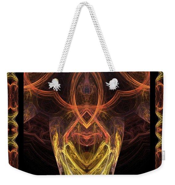The Angel Of Meditation Weekender Tote Bag