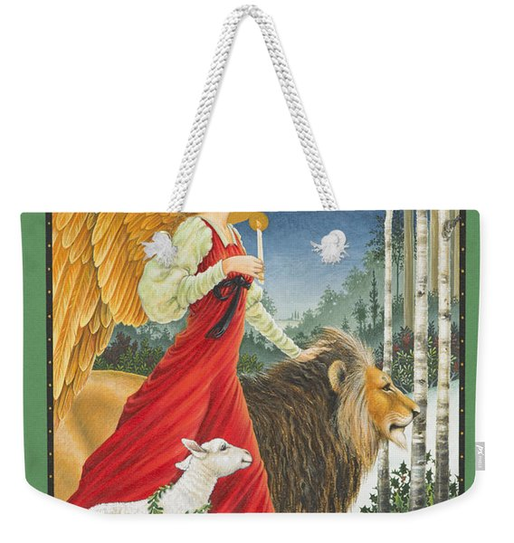 The Angel The Lion And The Lamb Weekender Tote Bag