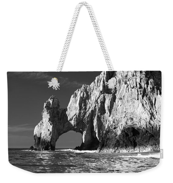 The Arch Cabo San Lucas In Black And White Weekender Tote Bag