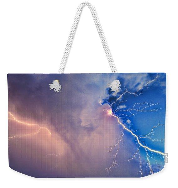 The Arrival Of Zeus Weekender Tote Bag
