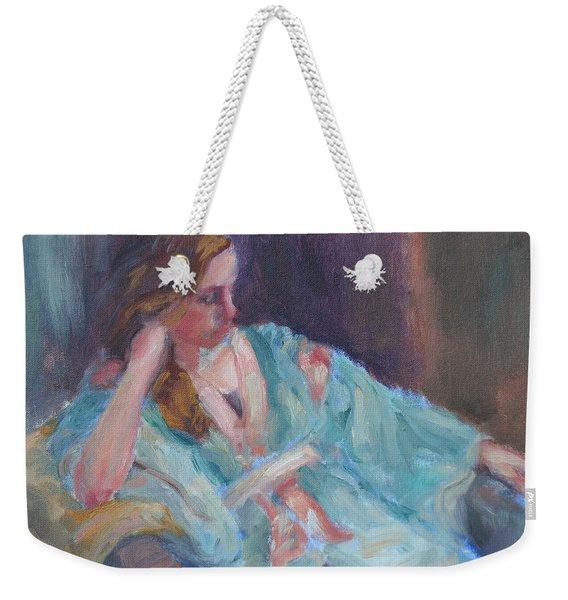Inner Light - Original Impressionist Painting Weekender Tote Bag