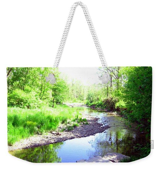 The Babbling Stream Weekender Tote Bag