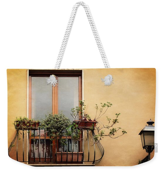 The Balcony Weekender Tote Bag