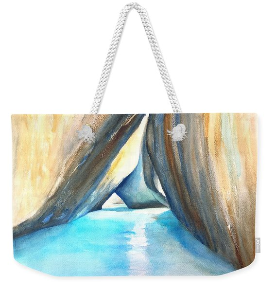 The Baths Azul Weekender Tote Bag