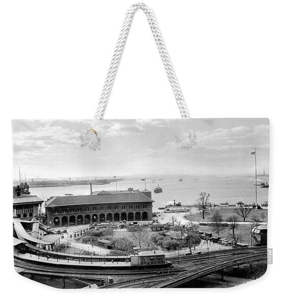 The Battery In Manhattan Weekender Tote Bag