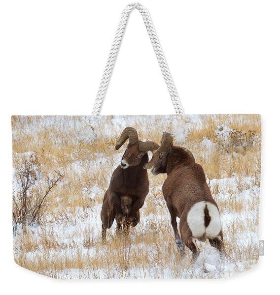 The Battle For Dominance Weekender Tote Bag