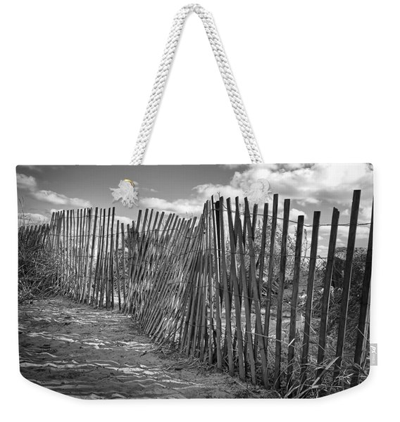 The Beach Fence Weekender Tote Bag