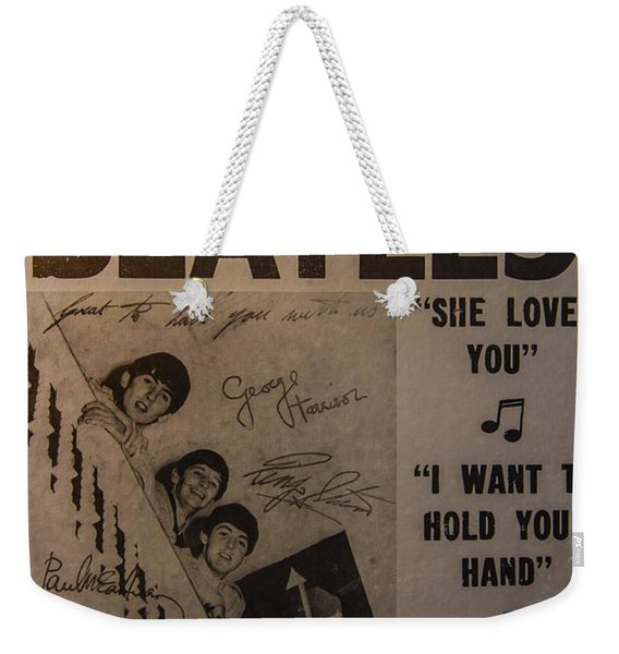 The Beatles Ed Sullivan Show Poster Weekender Tote Bag