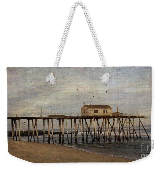 The Belmar Fishing Club Pier Weekender Tote Bag