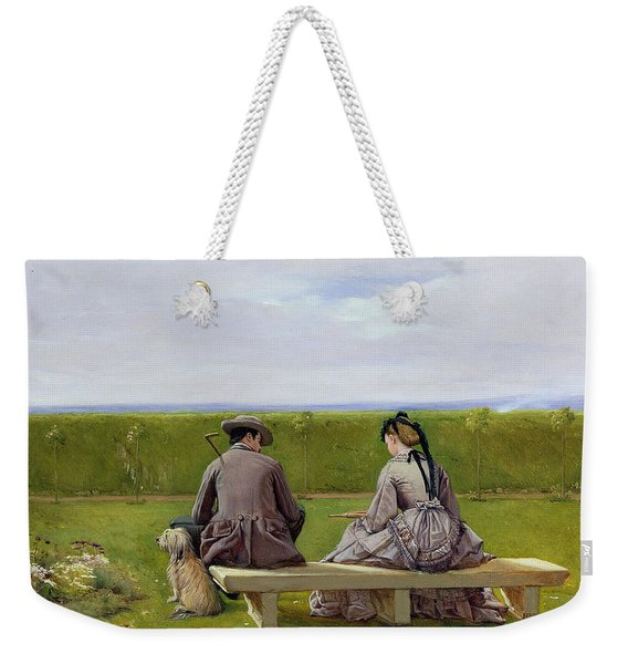 The Bench By The Sea Weekender Tote Bag
