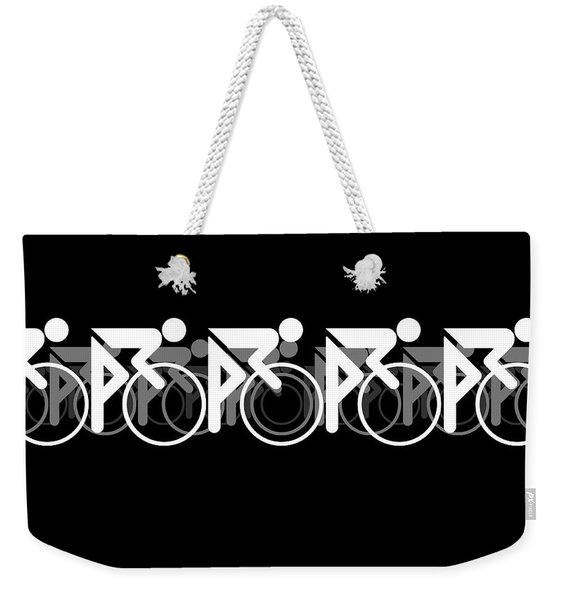 The Bicycle Race 2 Black Weekender Tote Bag