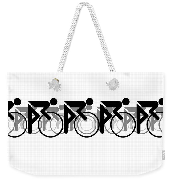 The Bicycle Race 2 White Weekender Tote Bag