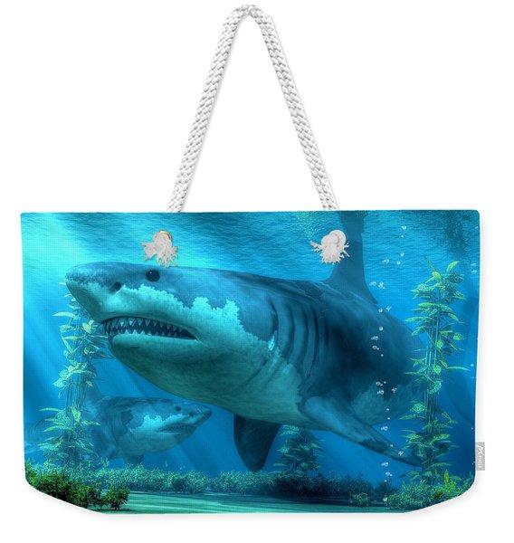 The Biggest Shark Weekender Tote Bag