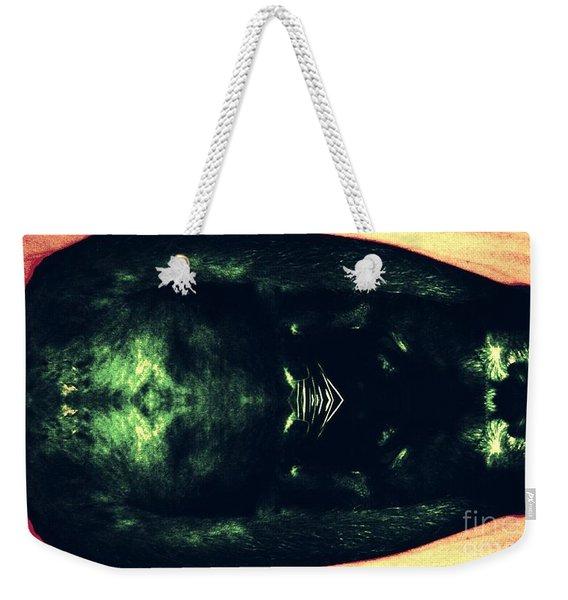 The Black Cat Weekender Tote Bag