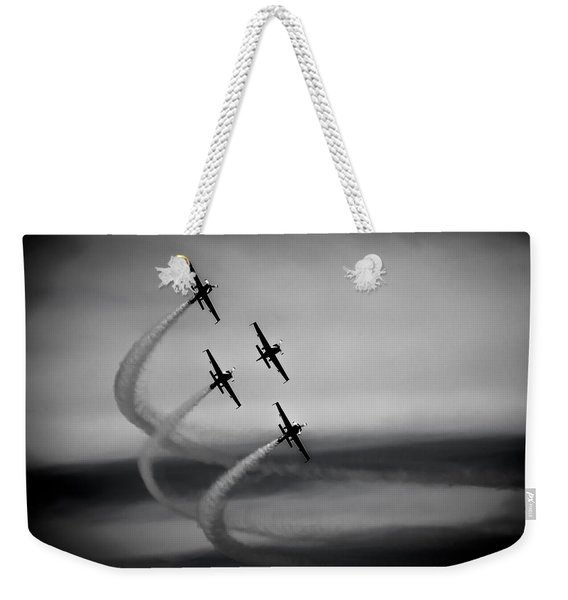 Weekender Tote Bag featuring the photograph The Blades In Formation Sunderland Air Show 2014 by Scott Lyons