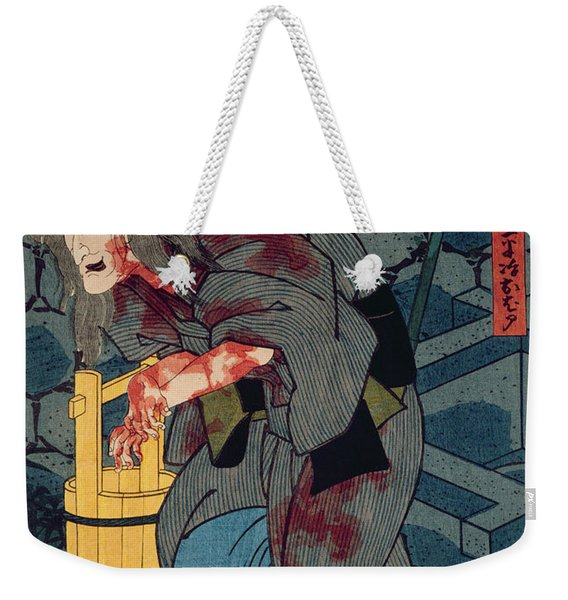 The Blood Stained Witch - Figure From Japanese Theatre, 1852 Colour Woodblock Print Weekender Tote Bag