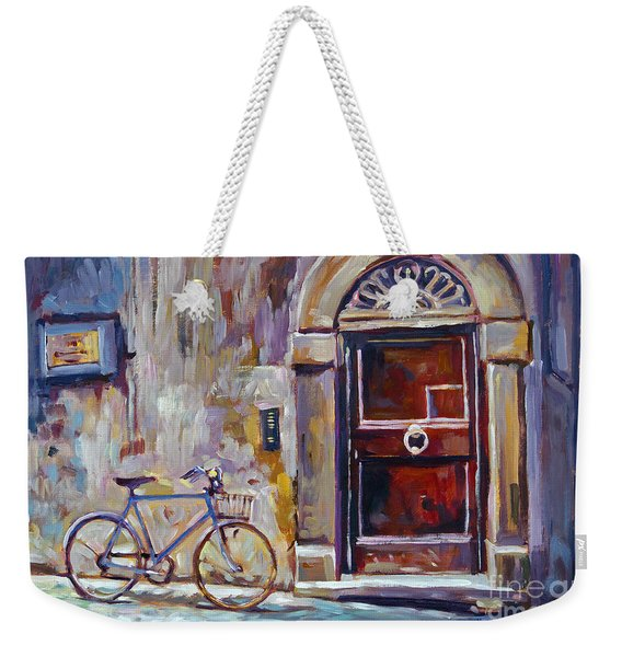 The Blue Bicycle Weekender Tote Bag
