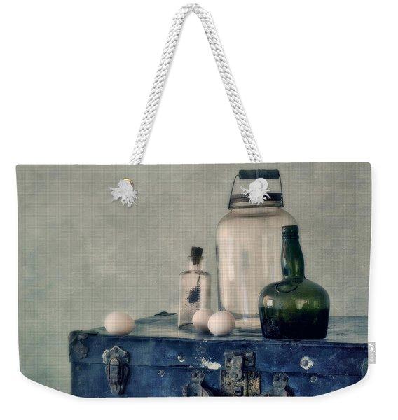 The Blue Suitcase Weekender Tote Bag
