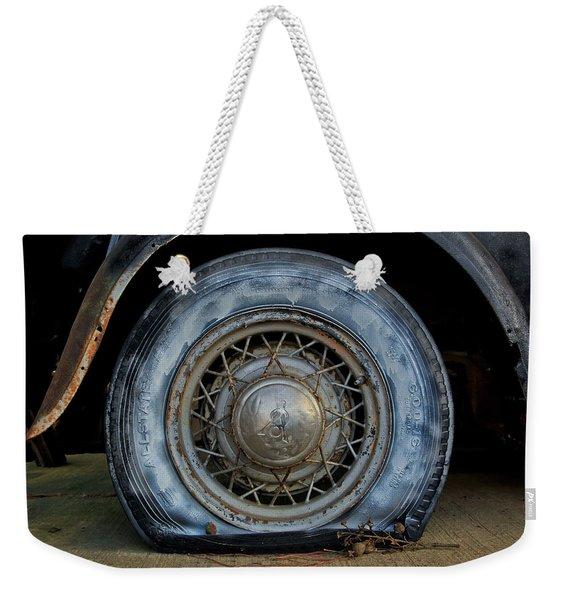 The Blue Tire Weekender Tote Bag