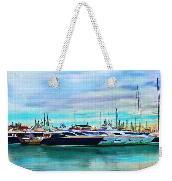The Boats Of Malaga Spain Weekender Tote Bag