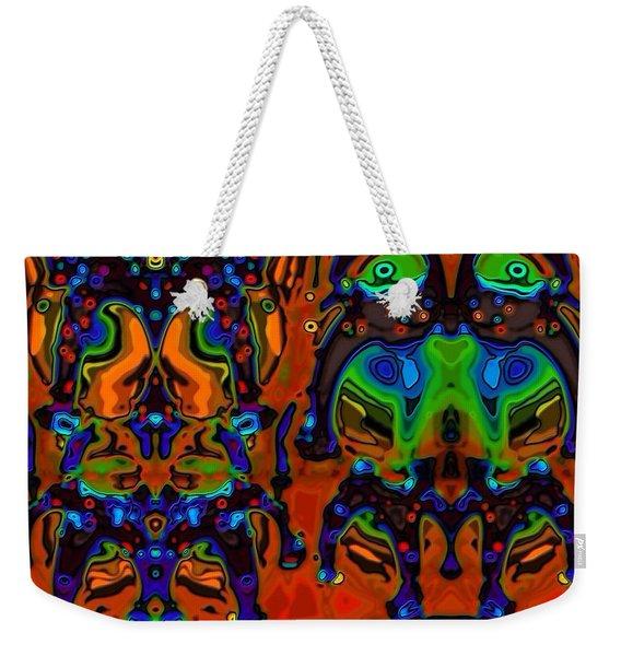 The Bride And Groom On Venus Weekender Tote Bag