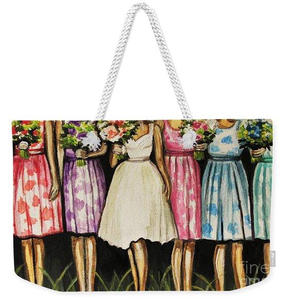 The Bride And Her Bridesmaids Weekender Tote Bag