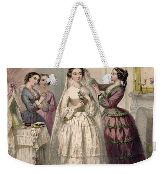 The Bride, Engraved By J. Battannier, 1852-53 Colour Litho Weekender Tote Bag