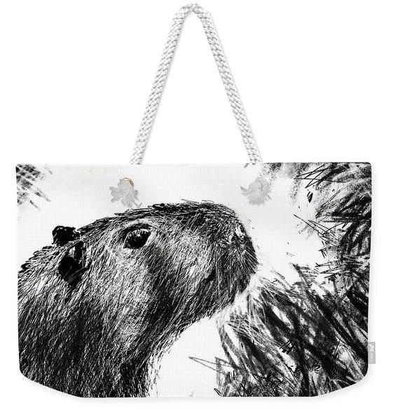 The Capybara  Weekender Tote Bag