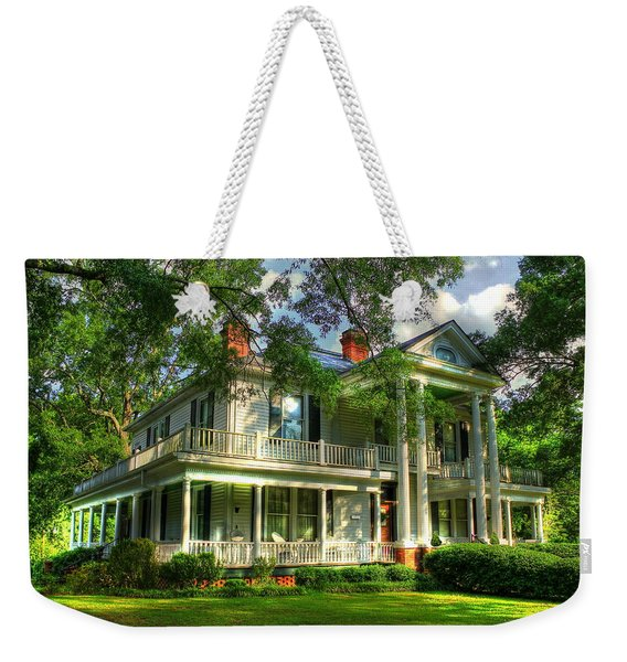 A Southern Bell The Carlton Home Art Southern Antebellum Art Weekender Tote Bag