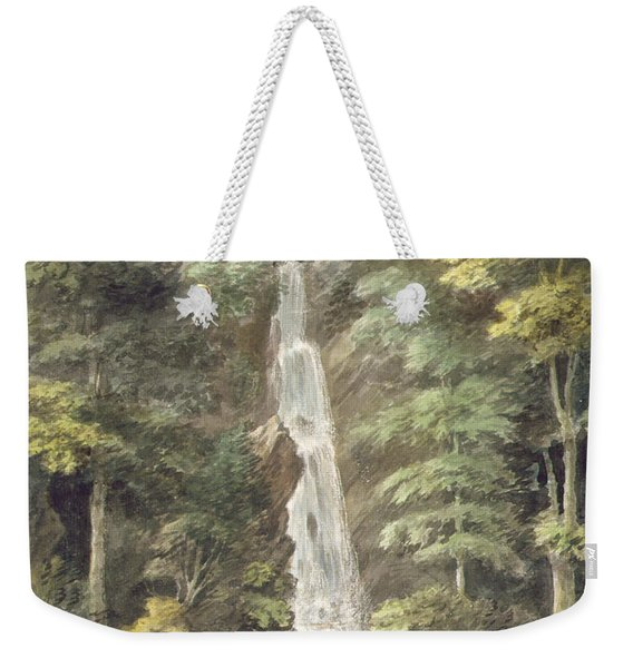 The Cascade Waterfall At Hestercombe Weekender Tote Bag