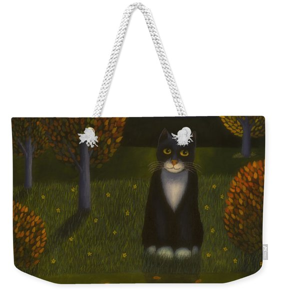 The Cat And The Moon Weekender Tote Bag
